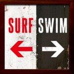 【アートフレーム】サインフレーム サーフィンはこっち、泳ぐのはこっち。【ゆうパケット】