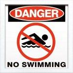 【アートフレーム】サインフレーム 危険。水泳禁止。【ゆうパケット】