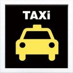 【アートフレーム】サインフレーム タクシー【ゆうパケット】