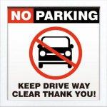 【アートフレーム】サインフレーム 駐車禁止【ゆうパケット】
