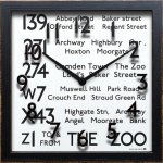 【時計 壁掛け】バスロール サイン クロック ロンドン