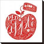 【アートパネル】赤いりんご