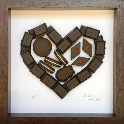 【フラワーフレーム】チョコレート ハート2
