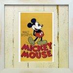 【アートフレーム】ビンテージ ディズニー ミッキーマウス1【ゆうパケット】