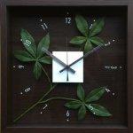 【時計】デザイン クロック リーフ パキラ グラブラ