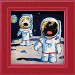 【絵】【ゆうパケット】リサとガスパール ミニアートフレーム「月面歩行」