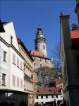 《アートフォト》世界遺産 チェスキー・クルムロフ 城の塔(レンタル対象)