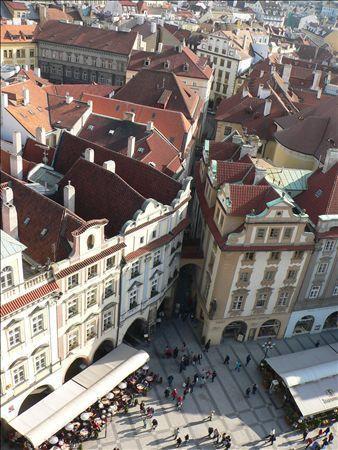 《アートフォト》世界遺産 プラハ旧市街地区 中世の街並(レンタル対象)