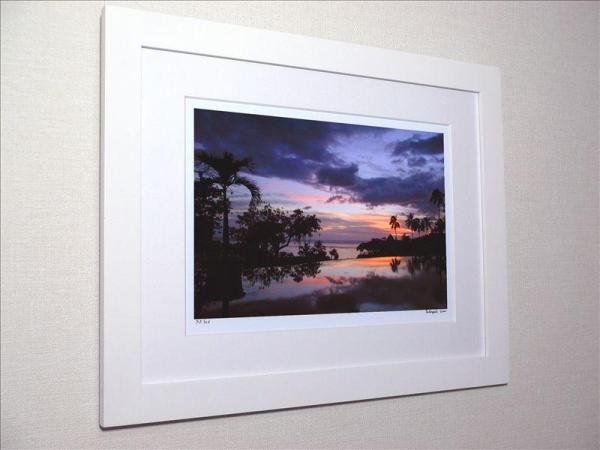 タヒチ島 紫の夕焼け