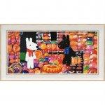 【アートフレーム】リサとガスパール アートフレーム「キャンディーハウス(ワイドSサイズ)」