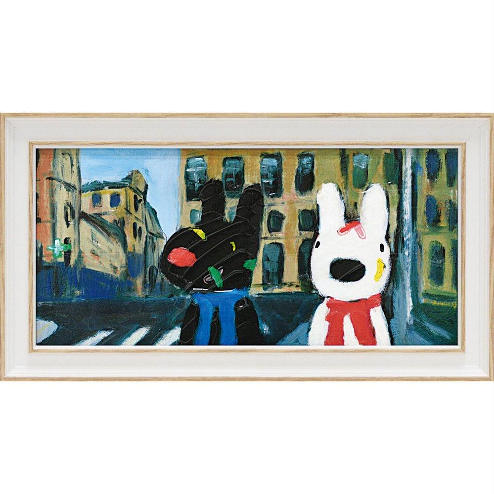 【アートフレーム】リサとガスパール アートフレーム「いろとりどりのばんそうこう(ワイドSサイズ)」