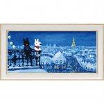 【アートフレーム】リサとガスパール アートフレーム「パリの天窓から(ワイドSサイズ)」