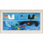 【アートフレーム】リサとガスパール アートフレーム「プールあそび(ワイドSサイズ)」