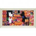 【アートフレーム】リサとガスパール ミュージアムフレーム「キャンディーハウス(Lワイド)」