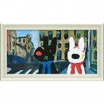 【アートフレーム】リサとガスパール ミュージアムフレーム「いろとりどりのばんそうこう(Lワイド)」
