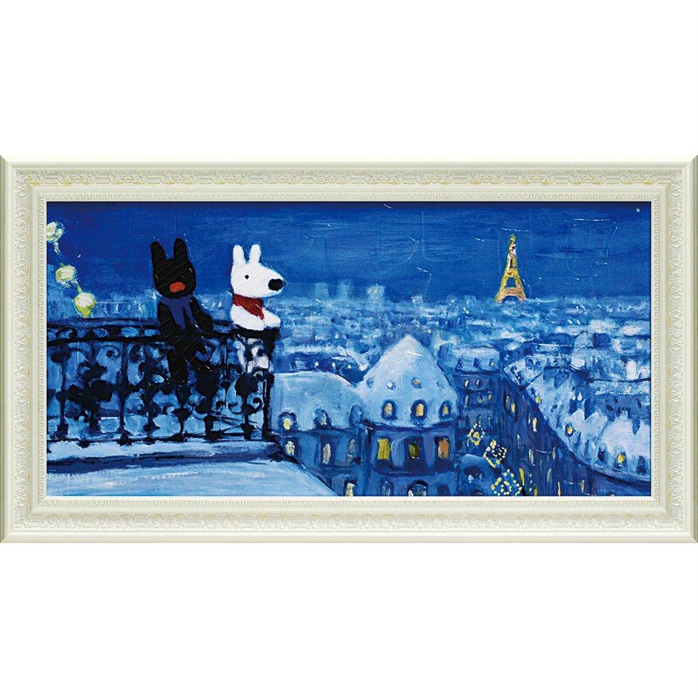 【アートフレーム】リサとガスパール ミュージアムフレーム「パリの天窓から(Lワイド)」
