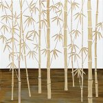 【木彫りアート】ウッド スカルプチャー アート「フォレスト バンブー(WH+NP)」