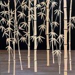 【木彫りアート】ウッド スカルプチャー アート「フォレスト バンブー(BK+NP)」