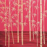【木彫りアート】ウッド スカルプチャー アート「フォレスト バンブー(RD+NP)」