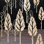 【木彫りアート】ウッド スカルプチャー アート「フォレスト ツリー(BK+NP)」