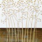 【木彫りアート】ウッド スカルプチャー アート「フィールド フラワー2(WH+NP)」
