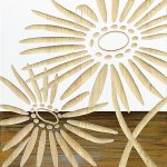【木彫りアート】ウッド スカルプチャー アート「ネーチャー ガーベラ2(WH+NP)」