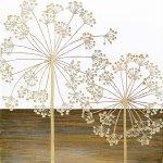 【木彫りアート】ウッド スカルプチャー アート「ファイヤー フラワー(WH+NP)」