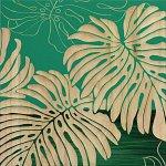 【木彫りアート】ウッド スカルプチャー アート「ワイルド モンステラS(GR+NP)」