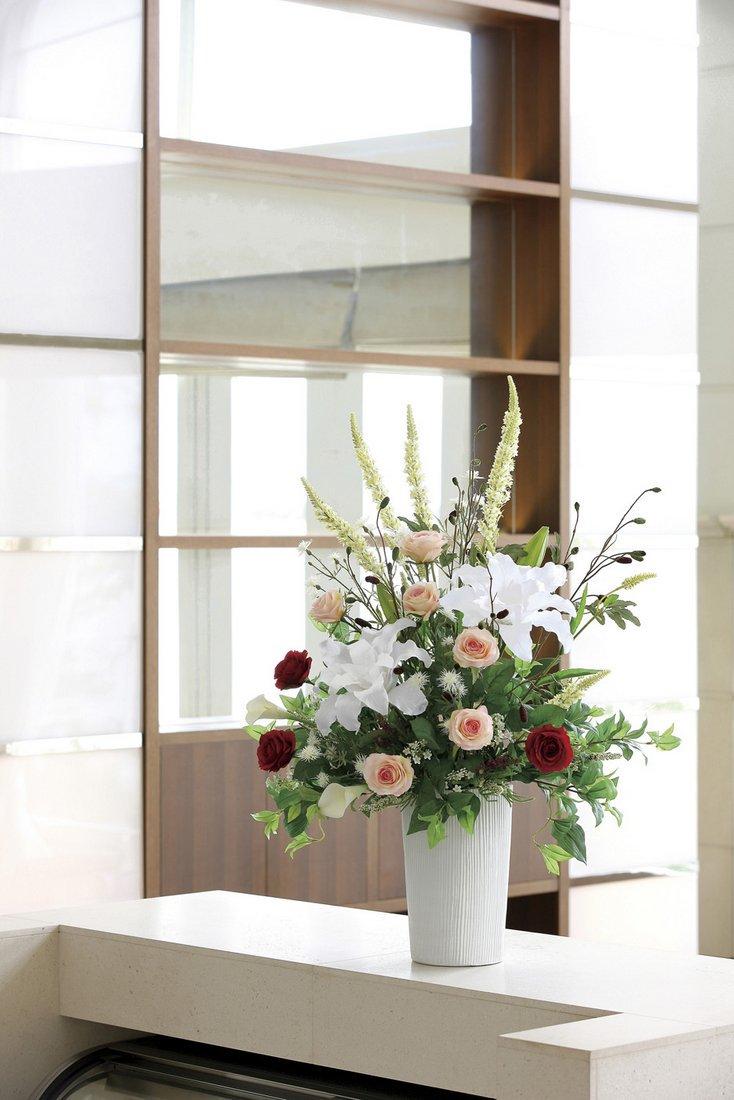 【アートフラワー 造花】トリムカサブランカ〔フロアタイプ〕