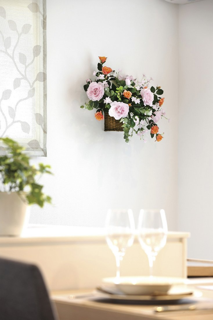 【アートフラワー 造花】スイ—トラベンダ—〔壁掛けタイプ〕
