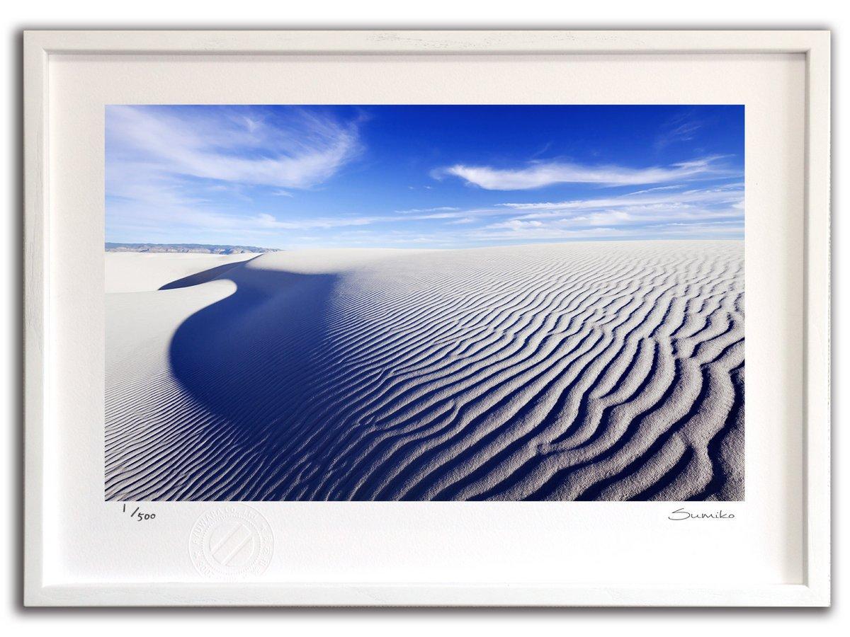 【版画 絵画】サンドデューンの静寂、ホワイトサンズ国定公園(スミコ スコット)/インテリア 壁掛け 額入り アート アートパネル アートフレ…