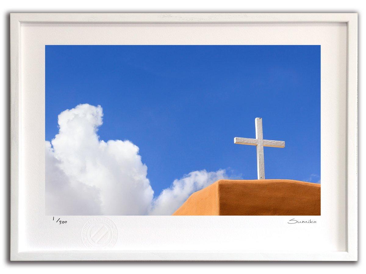 【版画 絵画】ニューメキシコの青い空(スミコ スコット)/インテリア 壁掛け 額入り アート アートパネル アートフレ…