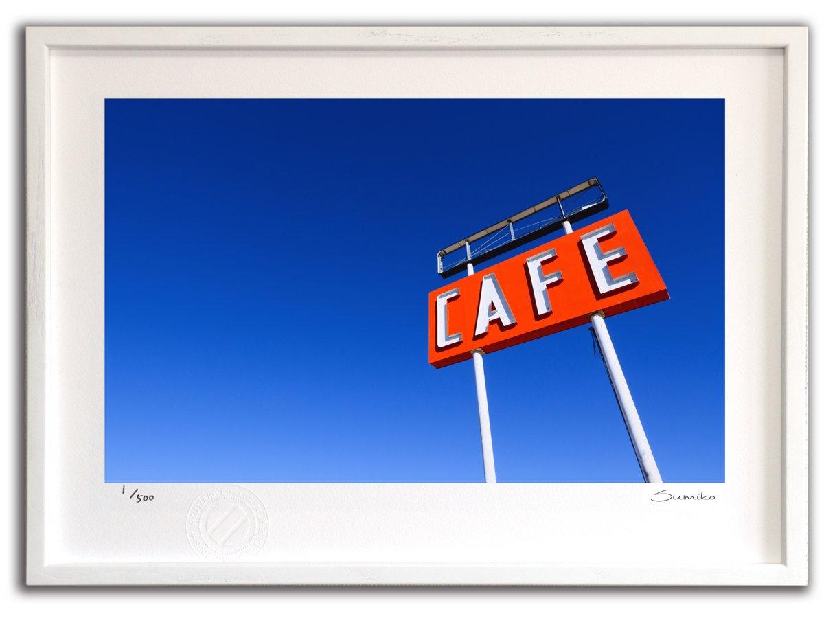 【版画 絵画】カフェサイン オン ルート66(スミコ スコット)/インテリア 壁掛け 額入り アート アートパネル アートフレ…