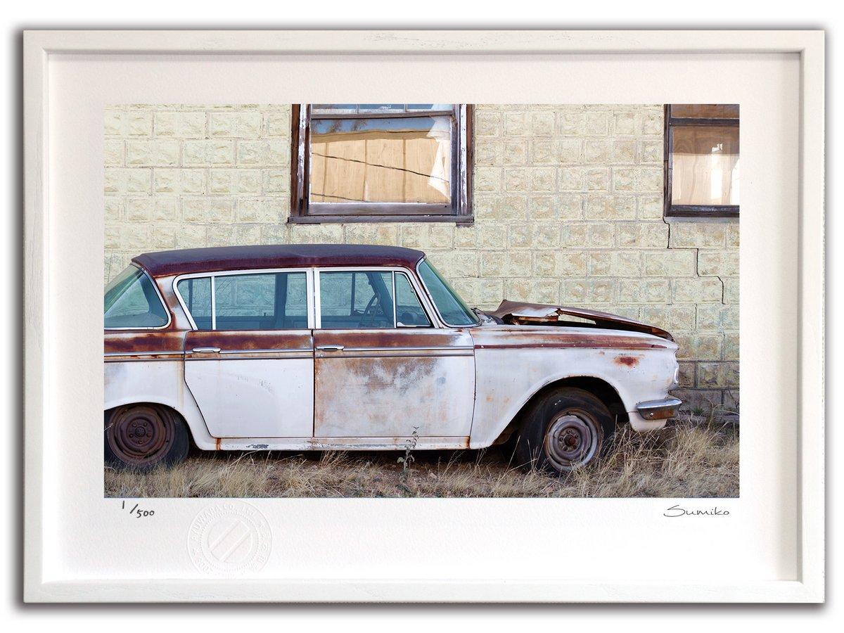 【版画 絵画】オールドカー オン ルート66(スミコ スコット)/インテリア 壁掛け 額入り アート アートパネル アートフレ…