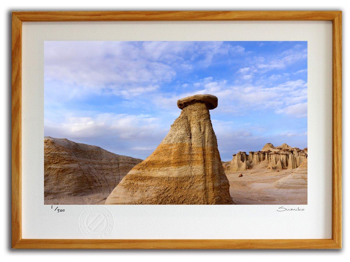 【版画 絵画】ニューメキシコの荒野(スミコ スコット)/インテリア 壁掛け 額入り アート アートパネル アートフレ…