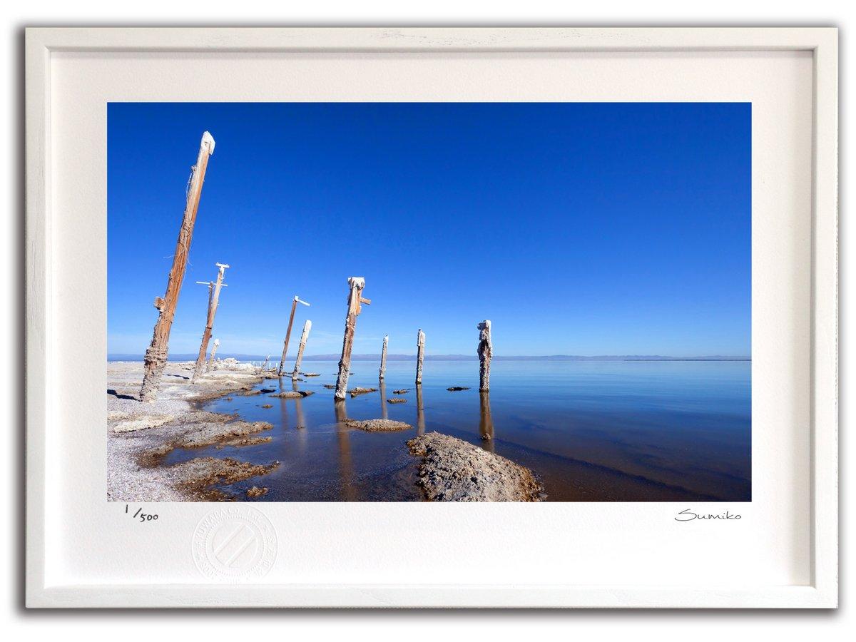 【版画 絵画】ソルトン湖(スミコ スコット)/インテリア 壁掛け 額入り アート アートパネル アートフレーム