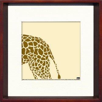 《アートフレーム》Giraffe(キリン)/ヤスカワ トシアキ