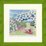 《栗乃木ハルミ くりのき はるみ アートフレーム》Rose garden