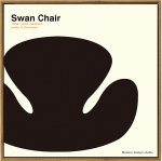 【アートフレーム】名作椅子シリーズ イラスト タカアキ ヤスカワ スワンチェア