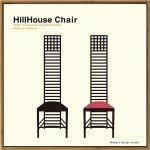 【アートフレーム】名作椅子シリーズ イラスト タカアキ ヤスカワ ヒルハウスチェア