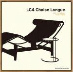 【アートフレーム】名作椅子シリーズ イラスト タカアキ ヤスカワ ル・コルビジェ LC4 シェーズ ロング