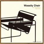【アートフレーム】名作椅子シリーズ イラスト タカアキ ヤスカワ ワシリーチェア