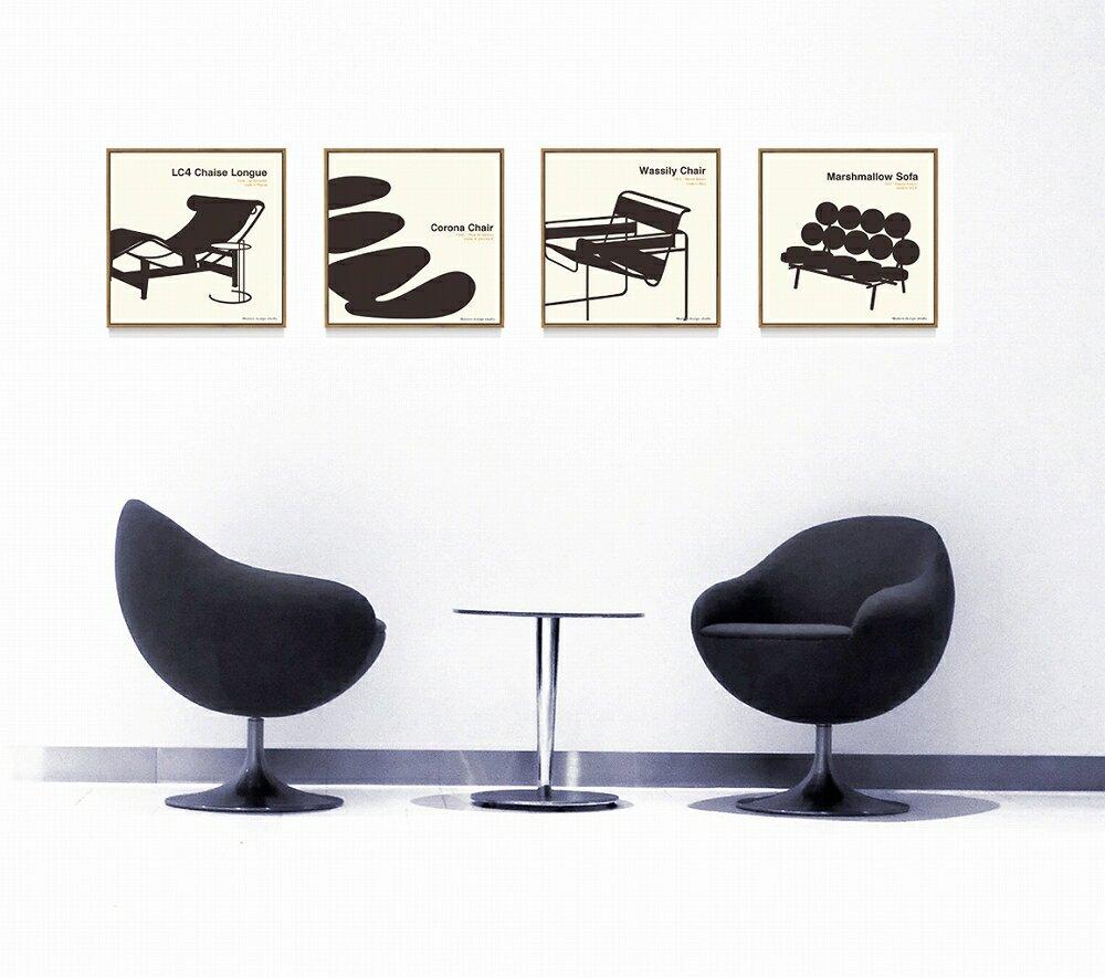 【アートフレーム】名作椅子シリーズ イラスト タカアキ ヤスカワ マシュマロソファ