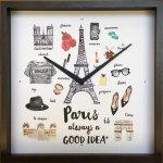 【時計】グッドアイデア クロック パリ