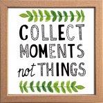 【アートフレーム】サインフレーム COLLECT MOMENTS not THINGS その時その瞬間を大切に ゆうパケット