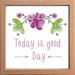 【アートフレーム】サインフレーム Today is good Day 今日は最高だね ゆうパケット
