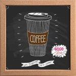 【アートフレーム】サインフレーム 人生はコーヒーでよりよくなる ゆうパケット