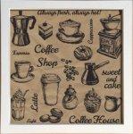 【アートフレーム】サインフレーム いつもいれたてあったかい コーヒーショップ ゆうパケット