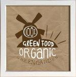 【アートフレーム】サインフレーム 野菜 オーガニック グリーン ガーデン ゆうパケット