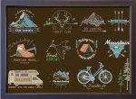 【アートフレーム】サインフレーム 山 森 キャンプ ハイキング